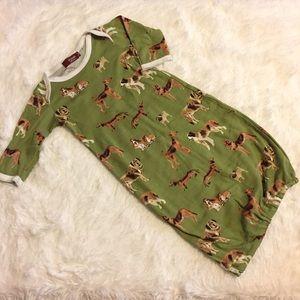 Milkbarn Green Dogs Baby Sleep Gown Sack 0-3